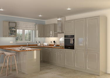 Buxted High Gloss Graphite Kitchen Doors