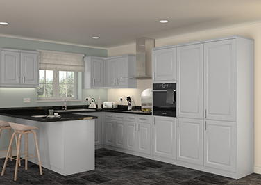 Buxted High Gloss Silver Kitchen Doors