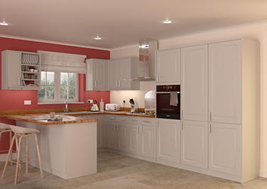 Buxted Light Grey Kitchen Doors
