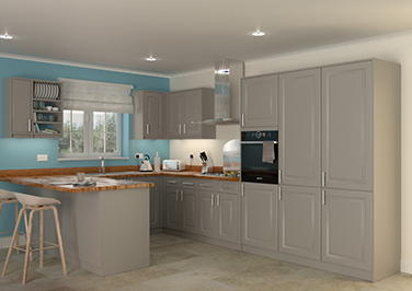 Buxted Stone Grey Kitchen Doors