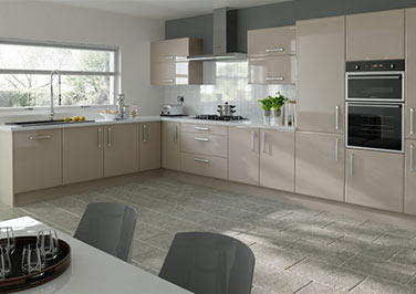 Durrington High Gloss Cappuccino Kitchen Doors