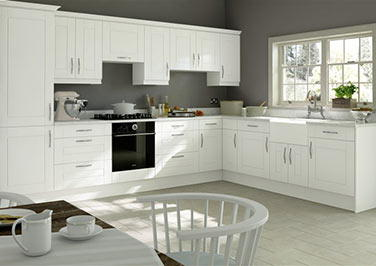 Fairlight Silk White Kitchen Doors