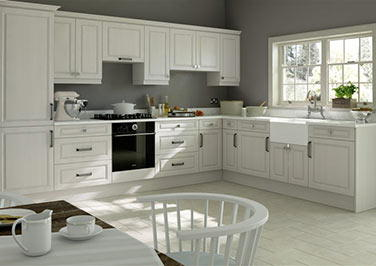 Fontwell Avola White Kitchen Doors
