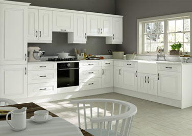 Goodwood Silk White Kitchen Doors