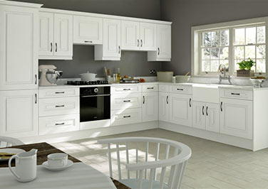 Goodwood Super White Ash Kitchen Doors