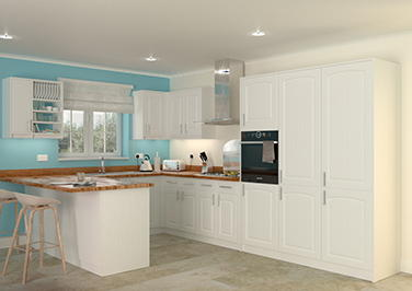 Hartfield Legno White Kitchen Doors