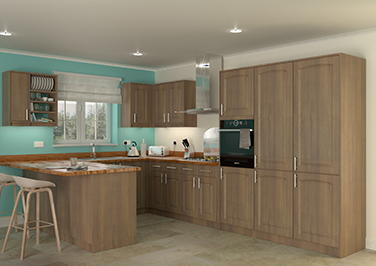 Hartfield Medium Walnut Kitchen Doors