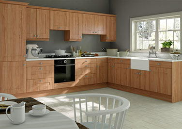 Kingston Tiepolo Light Walnut Kitchen Doors