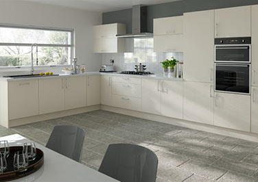 Lewes Cream Ash Kitchen Doors