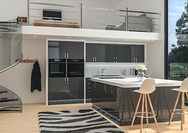 Lewes High Gloss Anthracite Kitchen Doors