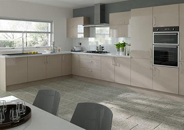 Lewes High Gloss Cappuccino Kitchen Doors