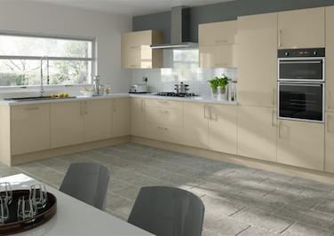 Lewes High Gloss Dakar Kitchen Doors