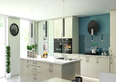 Lewes High Gloss Ivory Kitchen Doors
