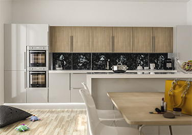 Lewes High Gloss Light Grey Kitchen Doors