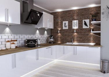 Lewes High Gloss White Kitchen Doors