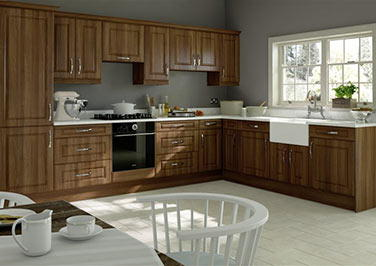 Midhurst Medium Walnut Kitchen Doors