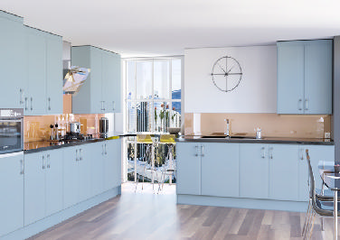 Newick Denim Blue Kitchen Doors
