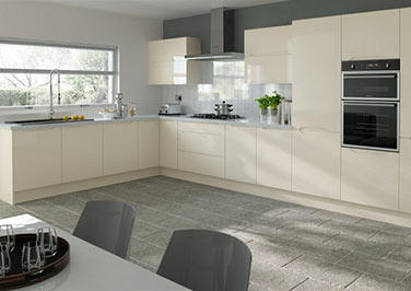 Petworth High Gloss Cream Kitchen Doors