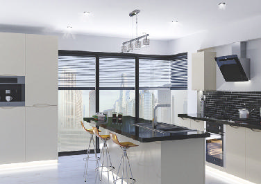 Petworth High Gloss Ivory Kitchen Doors