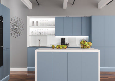 Ringmer Denim Blue Kitchen Doors