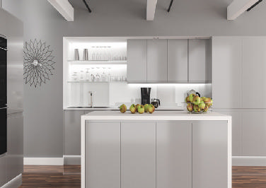 Ringmer High Gloss Silver Kitchen Doors