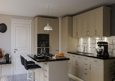 Singleton Matt Cashmere Kitchen Doors