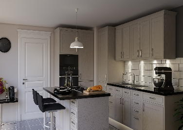 Singleton Legno Stone Grey Kitchen Doors