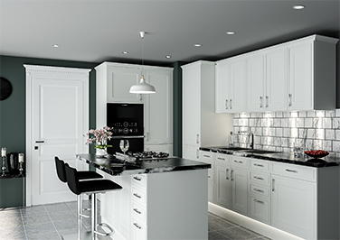 Singleton Silk White Kitchen Doors