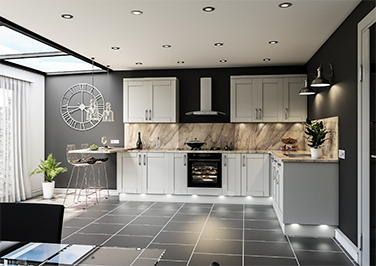 Washington Light Grey Kitchen Doors