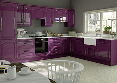 Westfield High Gloss Aubergine Kitchen Doors