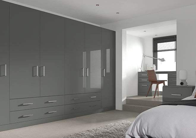 Ultragloss Storm Grey Bedroom Doors
