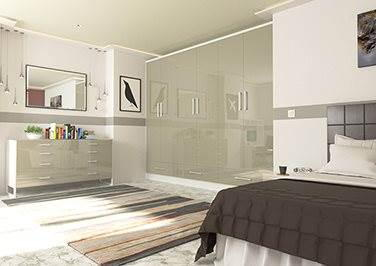 Ultragloss Champagne Bedroom Doors