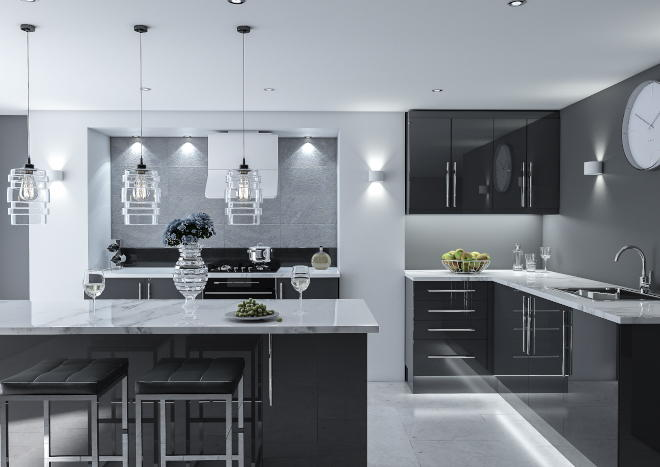 Made To Measure From 4 16: Ultragloss Anthracite Kitchen Doors
