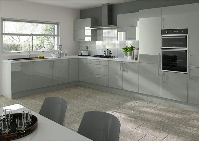Ultragloss Mussel Kitchen Doors