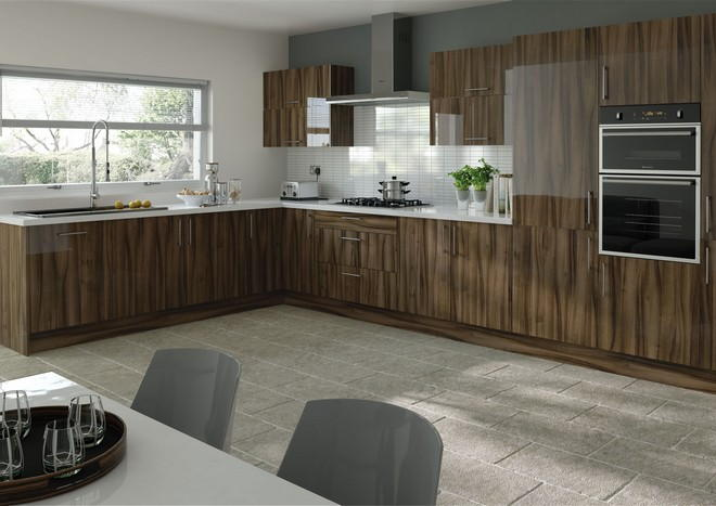 Visions kitchen doors in Ultragloss Tiepolo