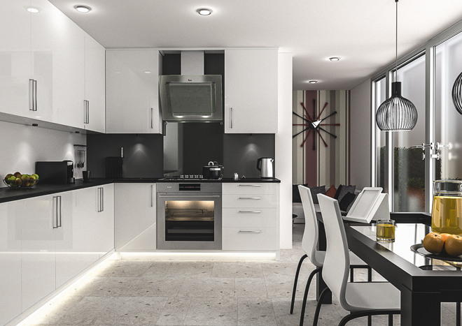 Ultragloss White Kitchen Doors