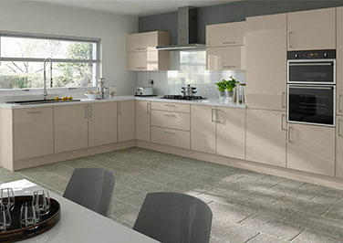 Ultragloss Cashmere Kitchen Doors