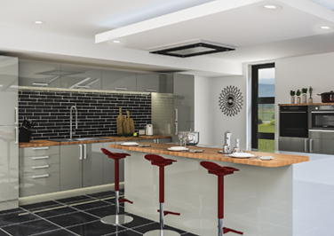Ultragloss Storm Grey Kitchen Doors