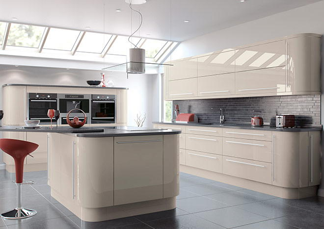 high gloss cashmere kitchen doors from gbp299 With kitchen colors with white cabinets with stickers next day delivery