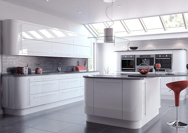 High Gloss White Kitchen Doors ...