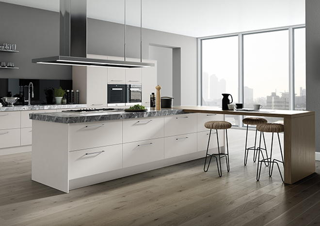Matt Light Grey Kitchen Doors From - Matt grey kitchen cupboards