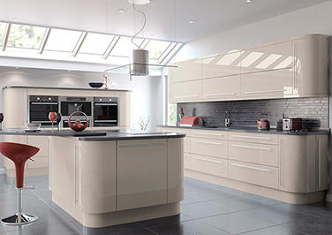 High Gloss Cashmere Kitchen Doors