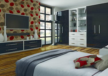 Ultragloss Black Bedroom Doors