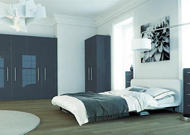 Ultragloss Metallic Anthracite Bedroom Doors