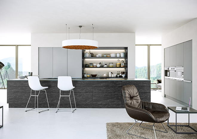 Supermatt Light Grey Kitchen Doors