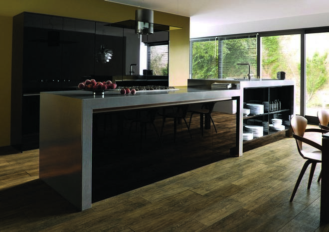 Ultragloss Black Kitchen Doors