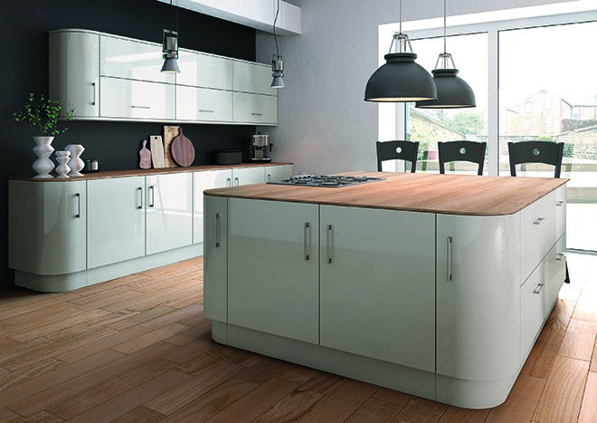 Ultragloss Light Grey Kitchen Doors