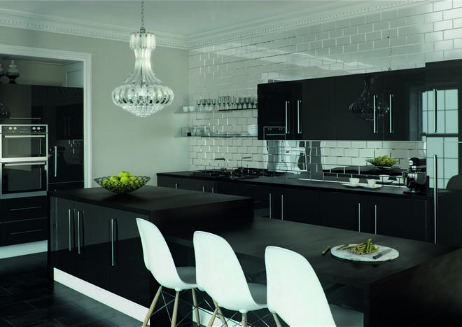Ultragloss Metallic Anthracite Kitchen Doors