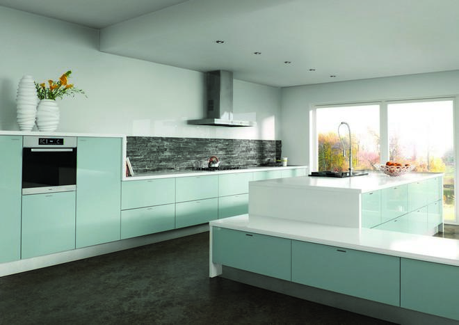 Ultragloss Metallic Blue Kitchen Doors