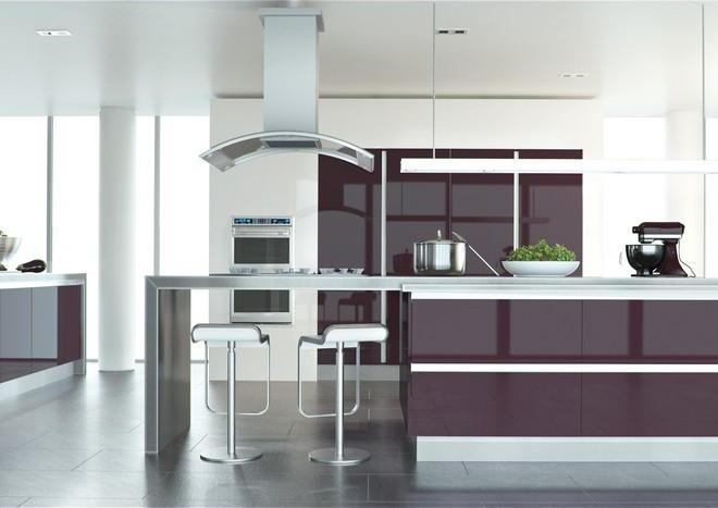 Zurfiz Ultragloss Plum Kitchen Doors